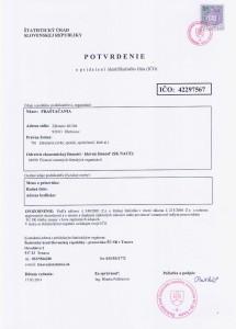 FRAŠTAČANIA o.z. - IČO
