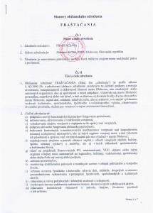 FRAŠTAČANIA o.z. - stanovy potvrdené MVSR